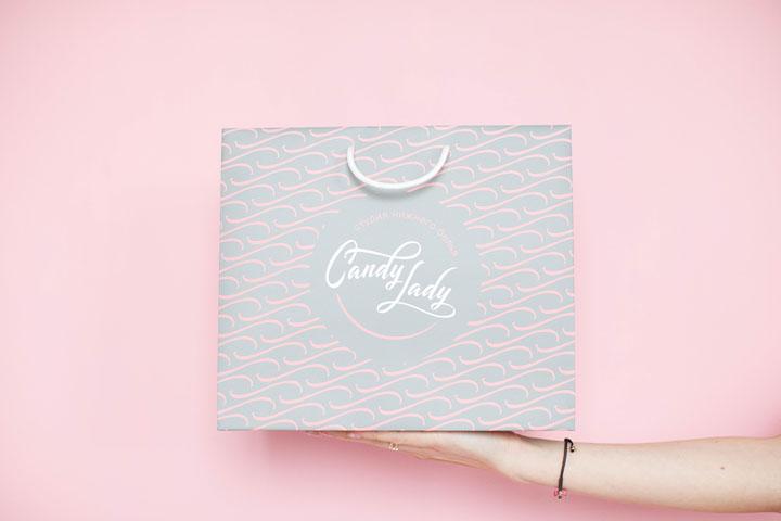Бумажные пакеты для магазина Candy Lady