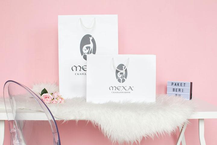 Бумажные пакеты для магазина Меха Скандинавии