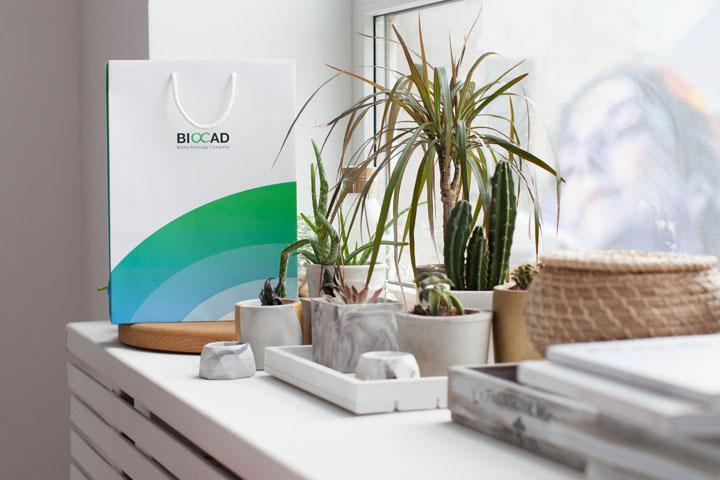 Бумажный пакет для Биокад