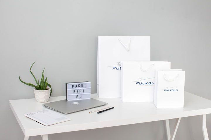 Бумажные пакеты для аэропорта Пулково